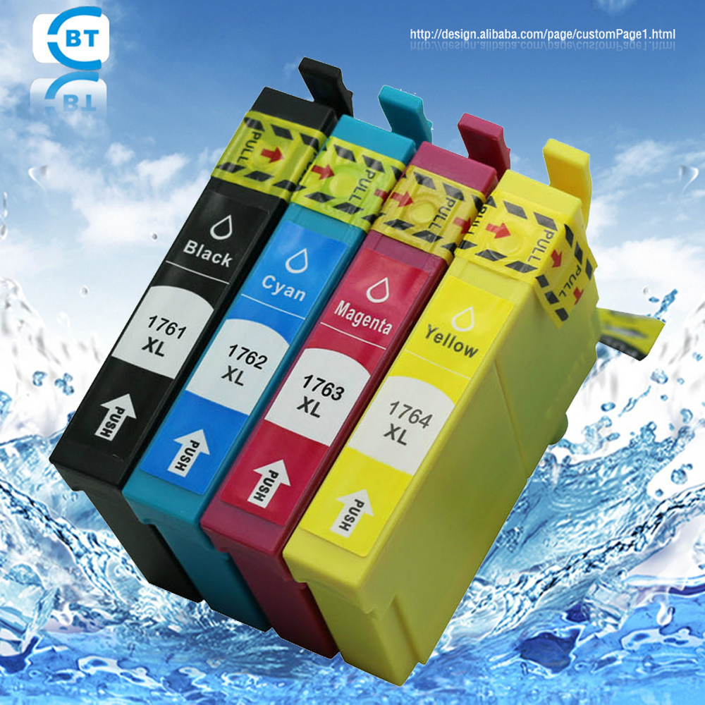 4pcs Compatible epson 176  T1761  ink cartridge for Expression Home XP-30/102/202 printer