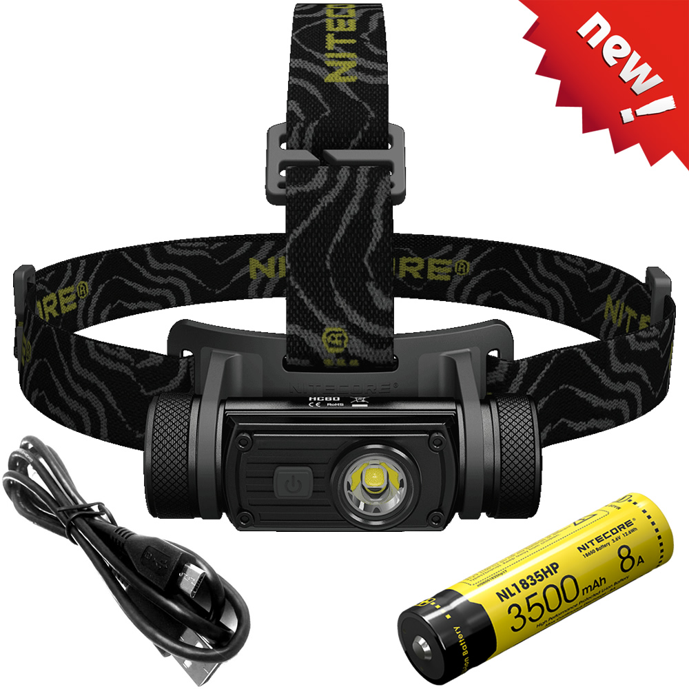SALE NITECORE Headlamp CREE XM-L2 U2 1000 Lumens Waterproof Headlight HC60 HC60W with 18650 Battery Camping Travel Free Shipping nitecore hc60 hc60w headlamp cree xm l2 u2 1000 lumen headlight waterproof led flashlight torch for camping travel