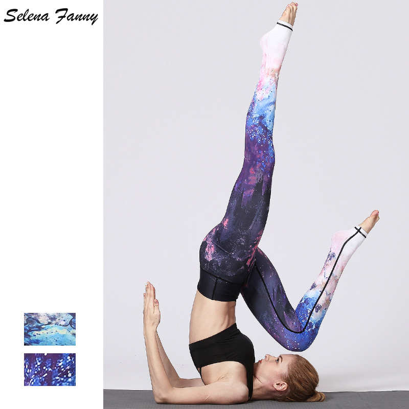 2018 New Beautiful Star Sky Printing Women Yoga Pants High Waist Fitness Workout Pants R ...
