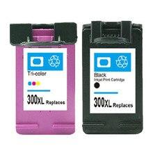 2pk para hp 300 300xl cartucho de tinta para impresora hp deskjet C4680 F4280 F2410 F4480 D5560 D2660 Impresora de inyección de Tinta Envío Gratis