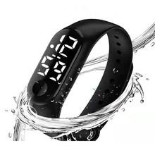 LED elektroniczne zegarki sportowe świecące zegarki moda mężczyźni i kobiety zegarki mężczyzna kobieta Casual zegarek zegar cyfrowy zegarek miłośników tanie tanio Aimecor 25inch Moda casual Z tworzywa sztucznego Klamra 5Bar 10mm Owalne 20mm LG-05021 Nie pakiet 50mm Szkło Brak Woman Man