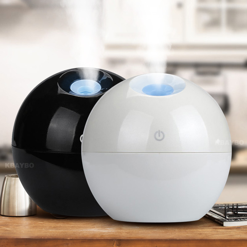 Mini USB Aroma Essential Oil Diffuser Ultrasonic Mist Humidifier Air Purifier 7 Color Change LED Night light for Office Home