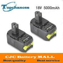 2x Alta Capacidad batería De 18 V 5000 mAh Batería Recargable Li-Ion Para Ryobi RB18L40 P108 Caliente Batería de La Herramienta Eléctrica Ryobi ONE +