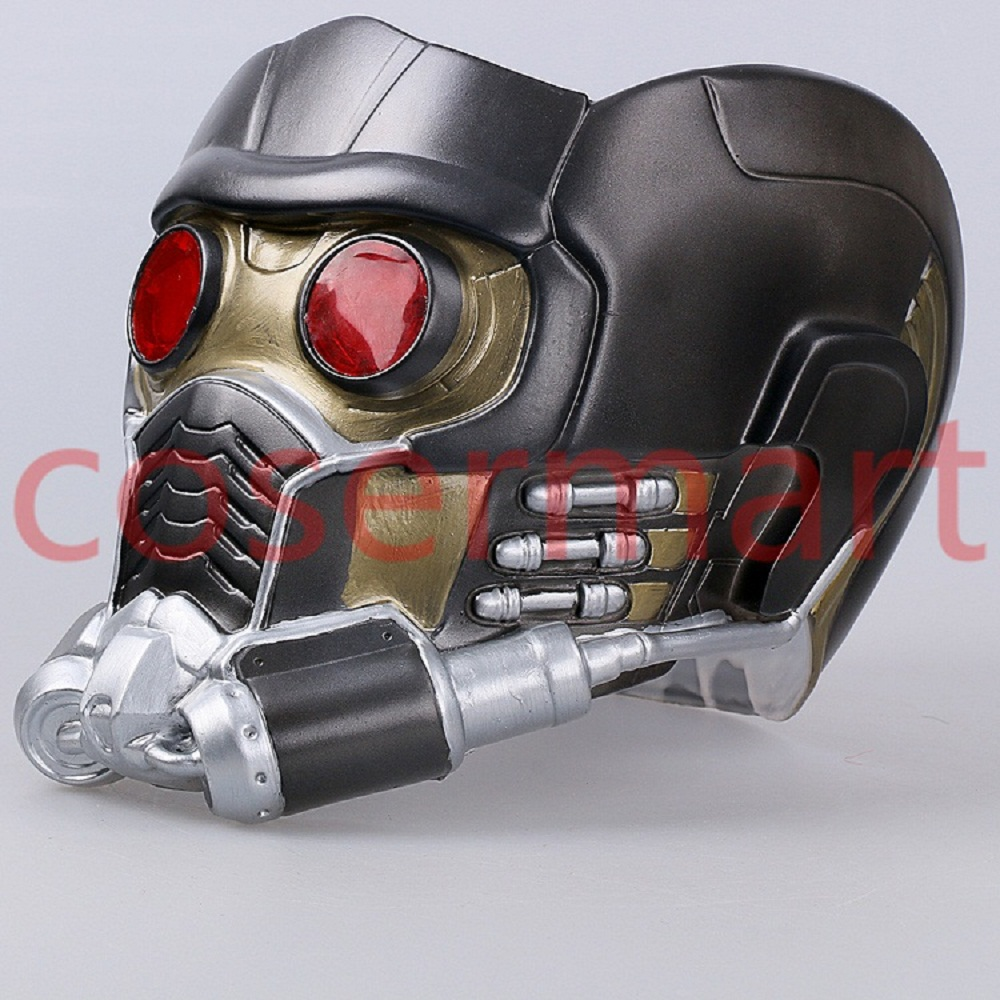 Cos Guardians of the Galaxy Helmet Cosplay Peter Quill Helmet PVC with Led Light Star Lord Helmet Halloween Party Mask Adults