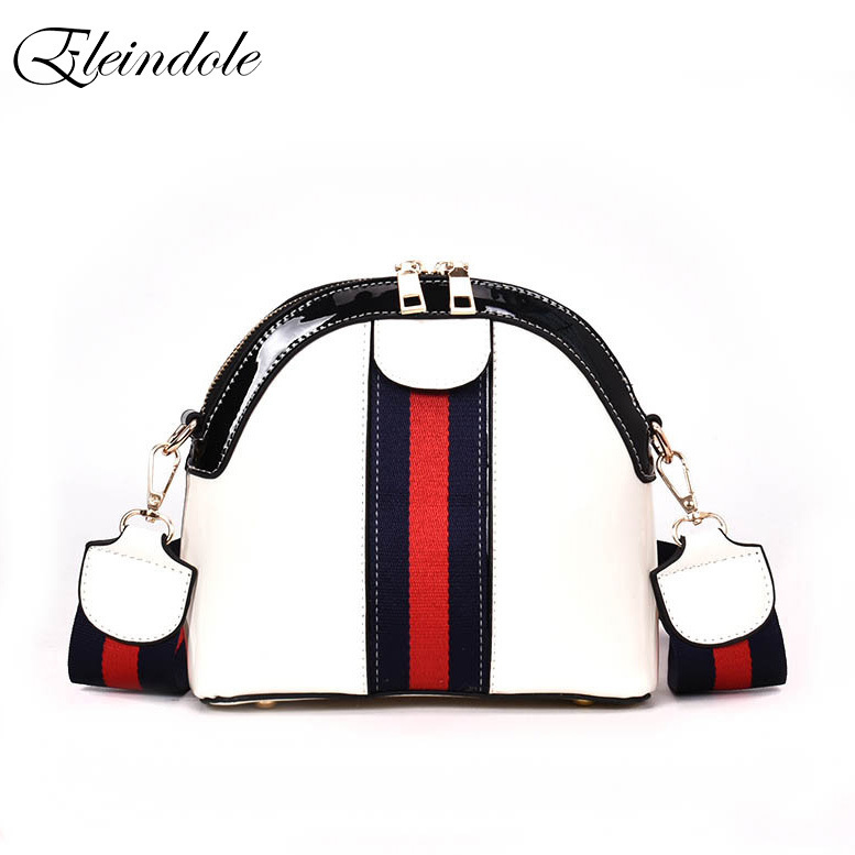Eleindole New Women Crossbody Bags Panelled PU Leather Shell Bag Korean Style 2018 Fashion Colors Zipper Women Shoulder Bags