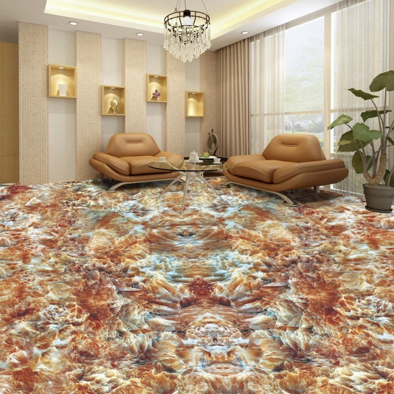 Free shipping custom moisture proof self-adhesive flooring Marble pattern living room bathroom 3D floor painting wallpaper железная дорога yako останови крушение
