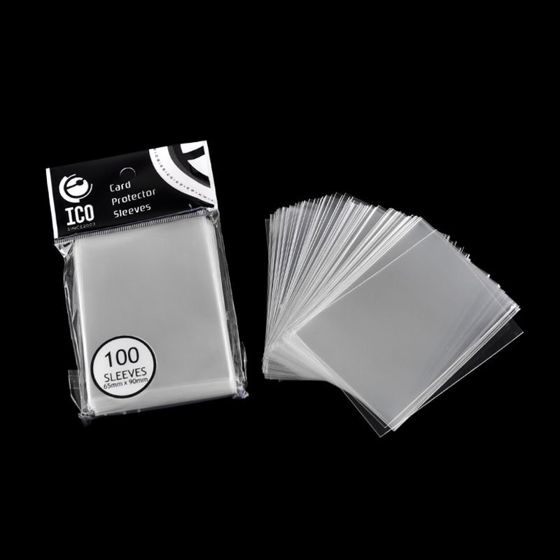 100 unids / pack 65 * 90mm Fundas para tarjetas Protector Magic de Three Kingdom Football Star ID Fundas protectoras transparentes