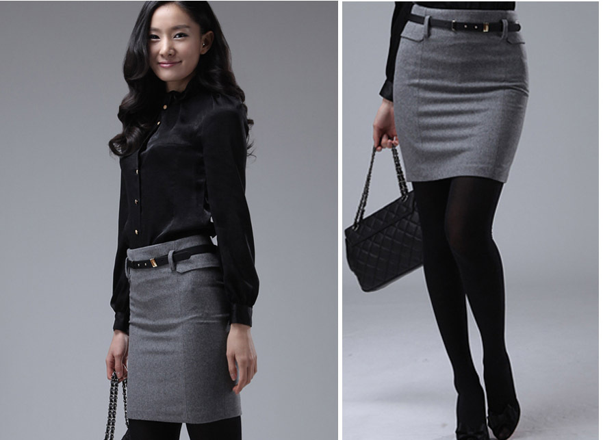 Aliexpress.com : Buy XS~XL/Grey Free Shipping 2014 Women Skirt ...