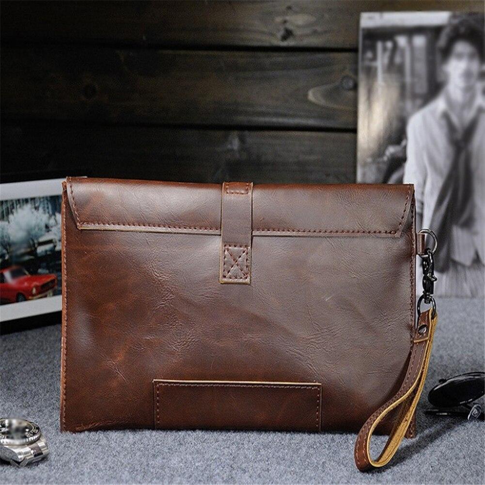 Hot Sale Men PU Leather Business Work Handbag 2018 New Fashion Male Solid Color Envelope Bag Hot Sale Men PU Leather Business Work Handbag 2018 New Fashion Male Solid Color Envelope Bag Briefcase