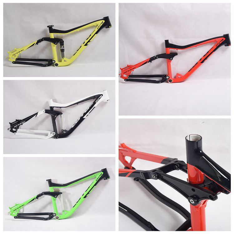 LUTU 2711 soft tail frame 650B double shock absorber Bike frame AL7005 Full suspension Frame 26/27.5ER*16inch DOWNHILL CROSS