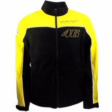 New 2016 MOTO GP Valentino Rossi VR46 Yellow Panel Soft Shell Jacket Casual jacket