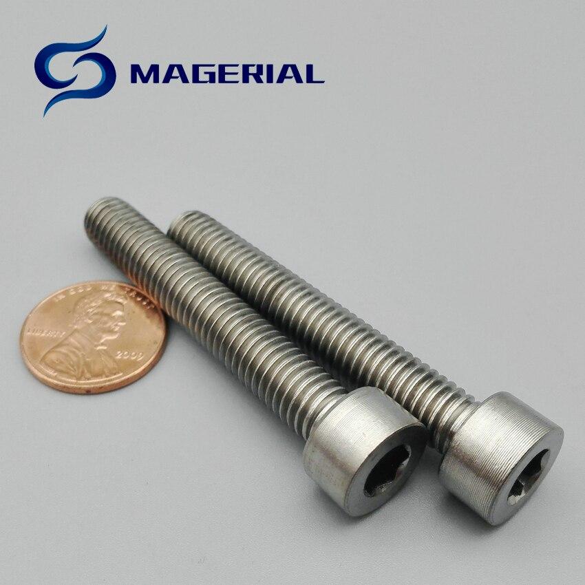 ツ)_/¯12 piezas M6 Ti Bolt M6 M8 10-120mm longitud titanium perno ...