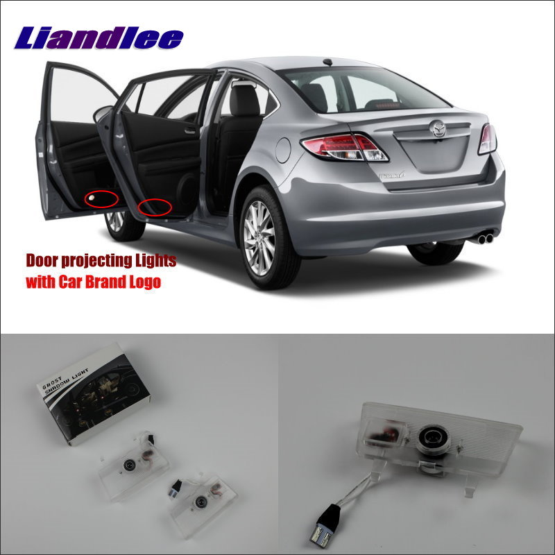 Liandlee Car Door Ghost Shadow Lights For Mazda 6 Atenza Mazda6 2010 2015 Courtesy Doors Lamp Led Projector Welcome Light in Signal Lamp from Automobiles Motorcycles