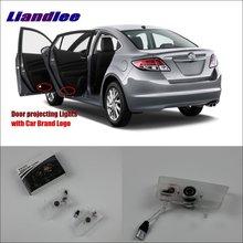 Liandlee Car Door Ghost Shadow Lights For Mazda 6 Atenza Mazda6 2010~2015 Courtesy Doors Lamp / Led Projector Welcome Light задние фонари autolighting mazda6 2015 mazda 6 atenza