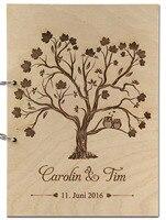 ספר אורחים חתונה אישית מותאם אישית שלט עץ אלבום תמונות לתינוק אהבה כפרית עץ ספר אורחים עם שם תאריך חתונת דקור