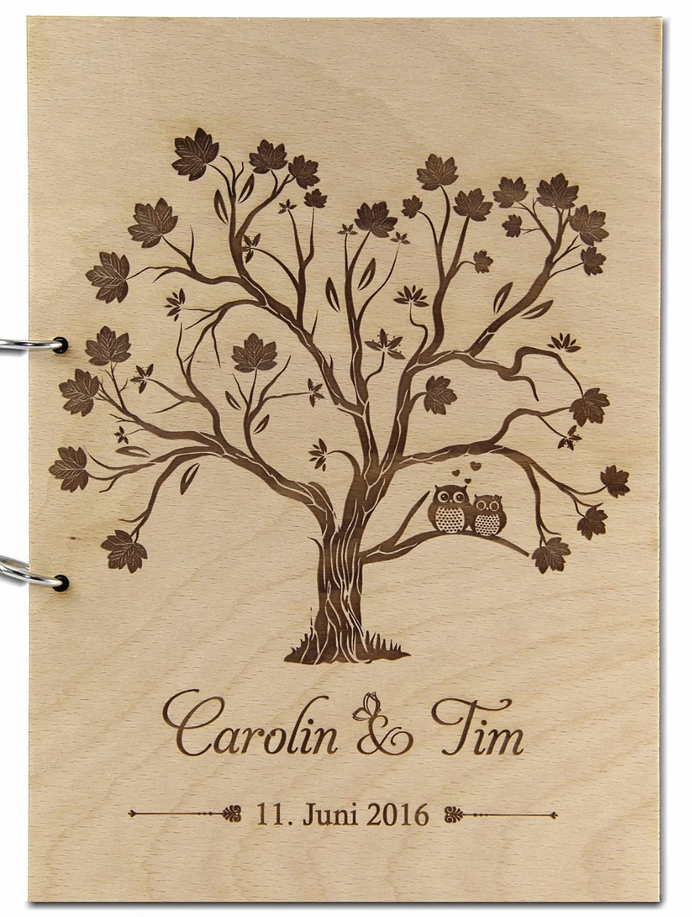 Personalized Wedding Guest Book Custom Wooden Sign Photo Album for Baby Rustic Love Tree Guestbook with Name Date Wedding Decor