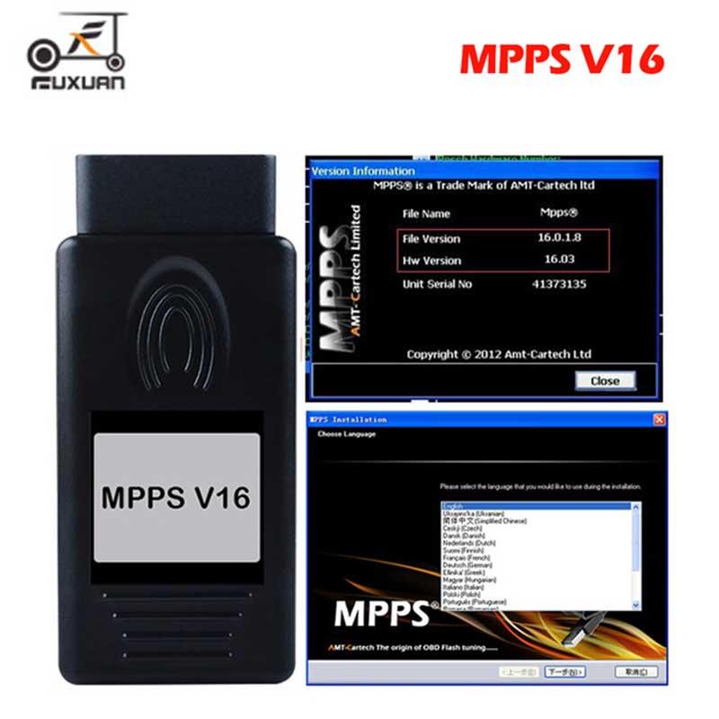 2019 EINE +++ Qualität ECU Chip Tuning MPPS V16.1.02 für EDC15 EDC16 EDC17 Inkl CHECKSUM KÖNNEN Flasher Remapper
