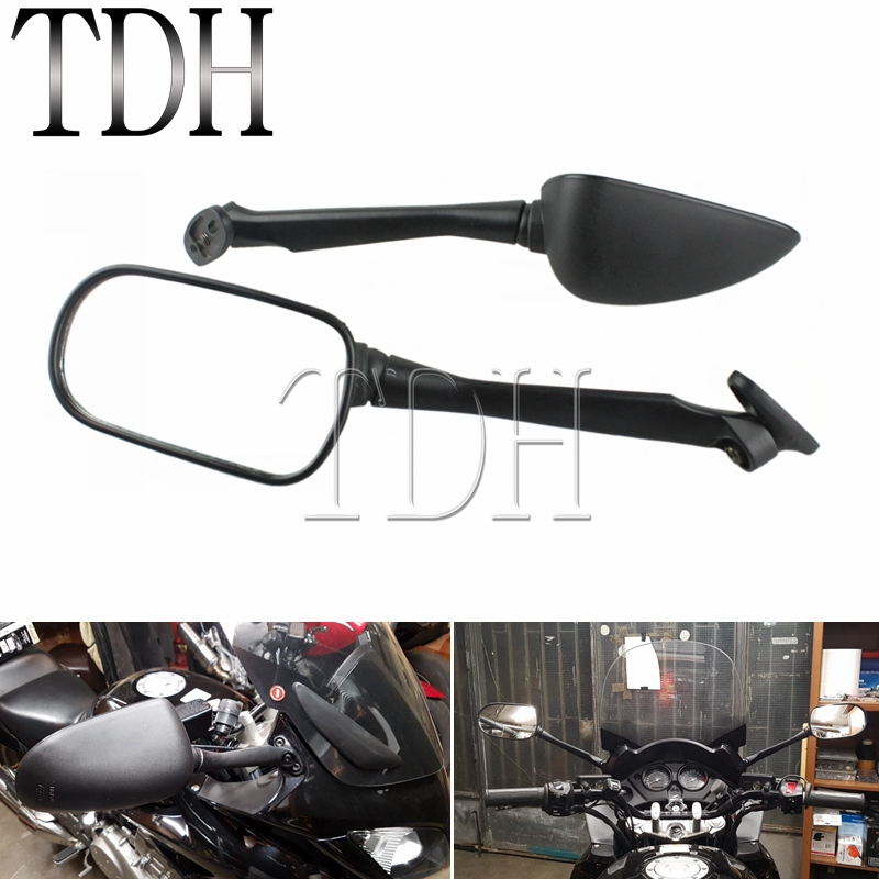 1 Pair ABS Plastic Motorcycles Long Rear View <font><b>Mirror</b></font> Black Left Right Side <font><b>Mirrors</b></font> For <font><b>Honda</b></font> CBR250 <font><b>CBR</b></font> <font><b>250</b></font> 1300S 2003-2012 image