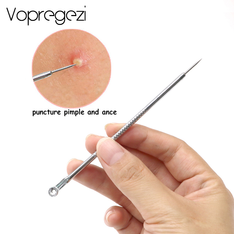 Vopregezi 3 4 5pcs Acne Blackhead Removal Needles Stainless Pimple Spot Comedone Acne Extractor Cleanser Black Head Remover Tool in Face Skin Care Tools from Beauty Health