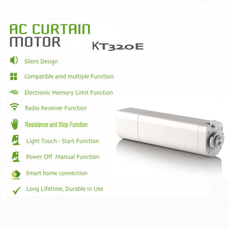 Image 2 - Original Eruiklink Dooya Sunflower 220V 50mhz Electric Curtain Motors KT320E 45W with remote DC2700 Intelligent Mobile Control-in Automatic Curtain Control System from Home Improvement