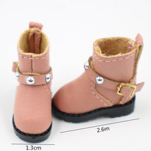 Neo Blythe Doll Leather Rivet Shoes