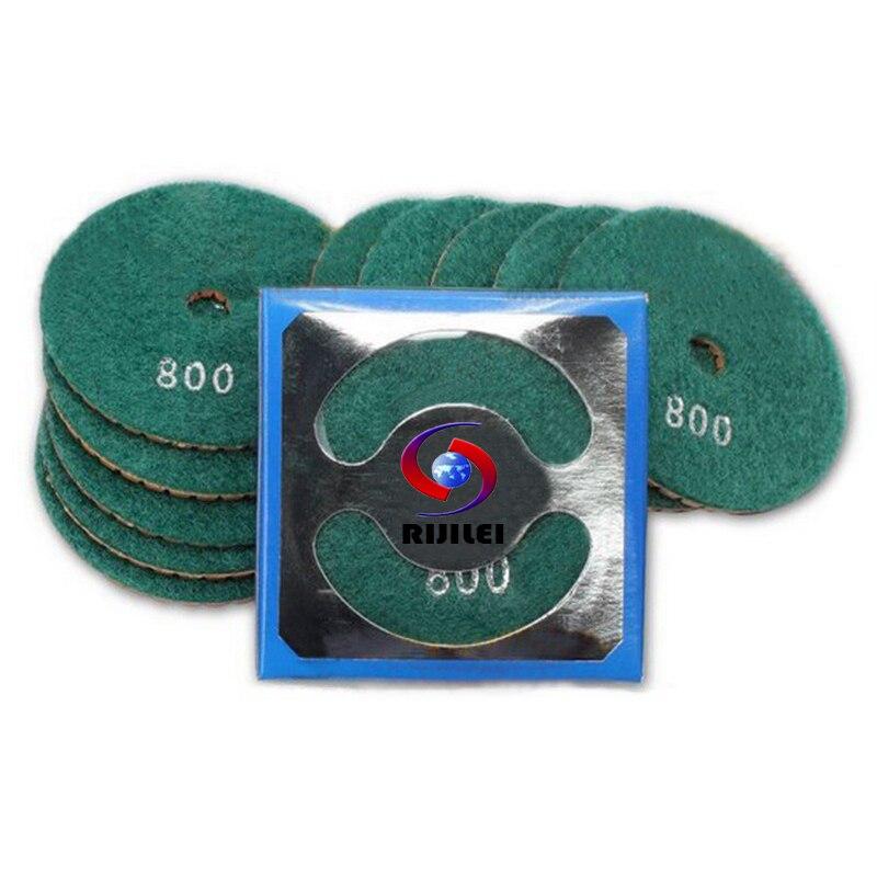 RIJILEI 7 vnt. / Rinkinys 4 colių deimantų poliravimo padas 100 mm - Elektriniai įrankiai - Nuotrauka 6