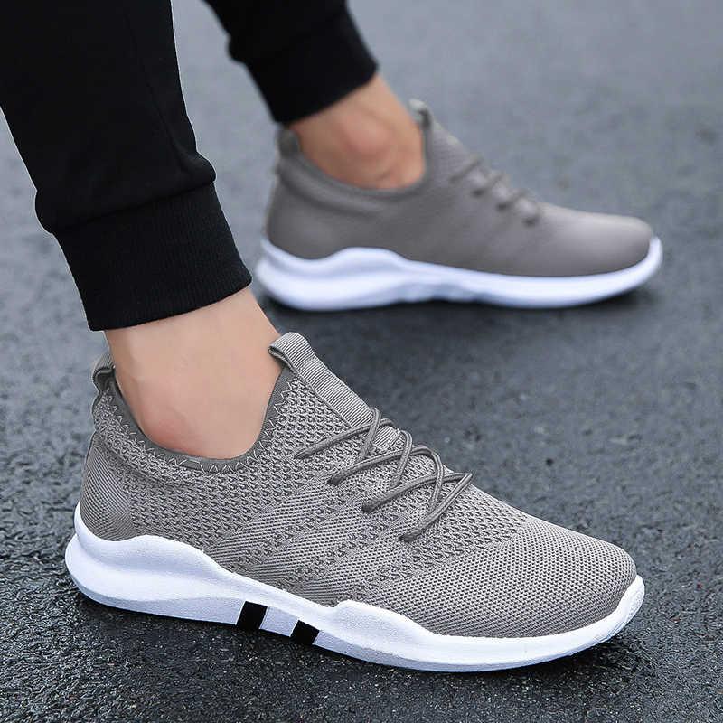 גברים של נעלי ריצה לנשימה נוח סניקרס חיצוני קל משקל רשת אתלטי הליכה ריצה ספורט הנעלה C8096