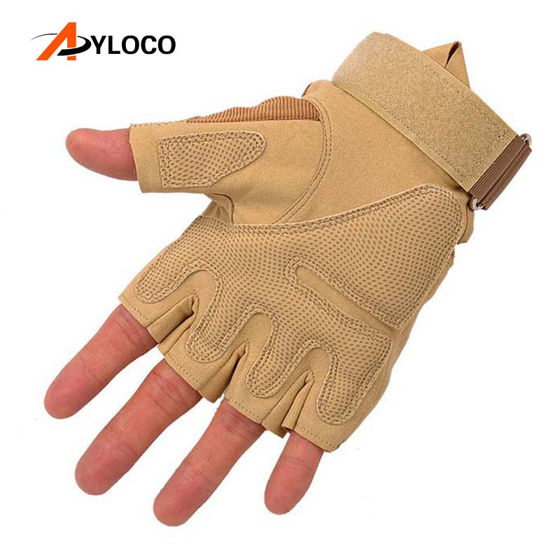 Tactical Gloves Military Special Forces Outdoor Half finger gloves Anti-skid Army Gloves Airsoft Paintball Gloves