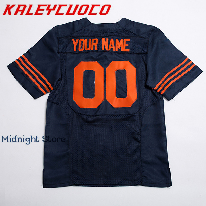 28aac9c3e Custom Made Football Jerseys Men Women Youth High Quality Stitched  Logos Name Number Jerseys Big Tall Size Color Blue White