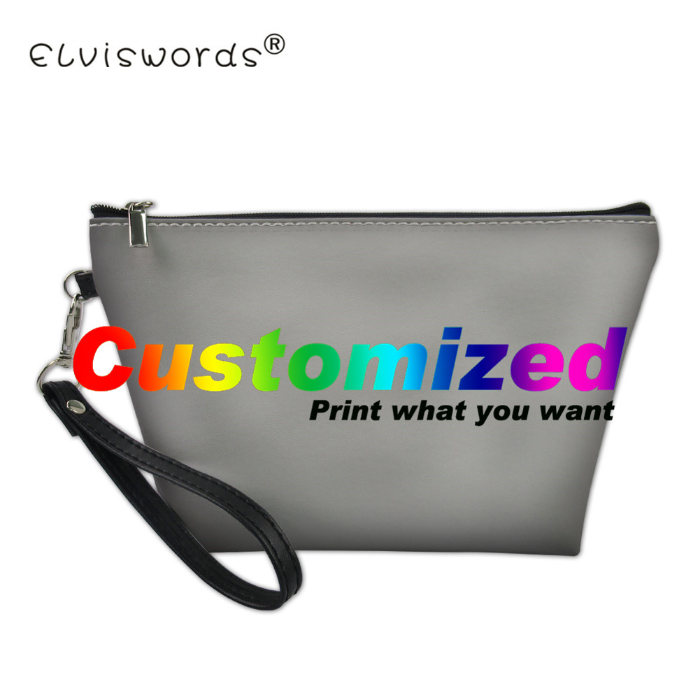2018 Cosmetic Bags Customized Image Logos Printed Make Up Bag New Makeup Handbags Girls 3D Printing Women Travel Storage Bag ...