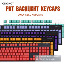 108 Keys PBT Russian/English Languag Keyscaps Backlight Keys DIY Replacement For Cherry MX Mechanical Keyboard Key Cap Switches