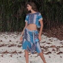 2019 Fashion irregular Beach Recreation suit two-piece dress 2 piece outfits for women  set matching sets