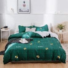 2019 Green Bee bedding set 3/4pcs bed linen strawberry Duvet cover fruit bedcloth Modern flat sheet pillowcase king