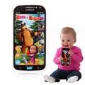 Bebê Brinquedo Telefone Móvel Língua Russa Masha Eo Urso Crianças dos miúdos Brinquedos de Música Eletrônica de Telefone Celular Presentes Para O Bebê