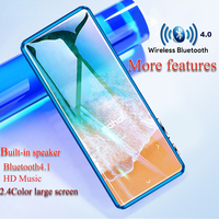 Original imported 2.4 inch color screen Bluetooth 4.0 mp4 player support recording FM radio speaker media MP4 video player