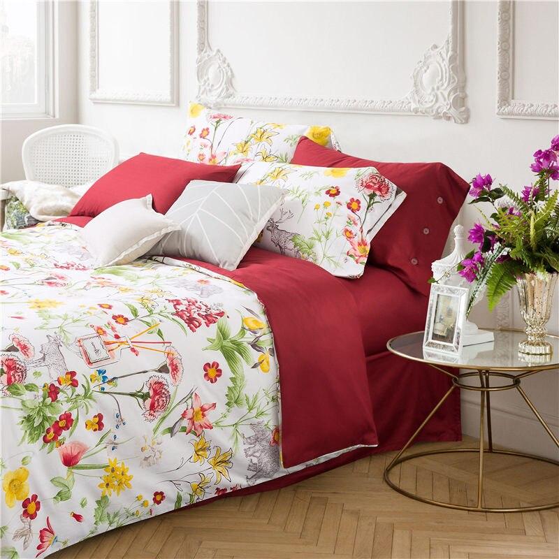 Moda reactiva de algodón de impresión conjunto de cama king size 4 - Textiles para el hogar