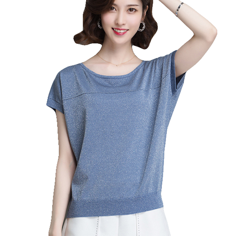 Womens Cardigan Sweaters Tops And Blouse Shirts Spring Summer Sweet Holiday Elastic Loose Style Sweater New Women Blue