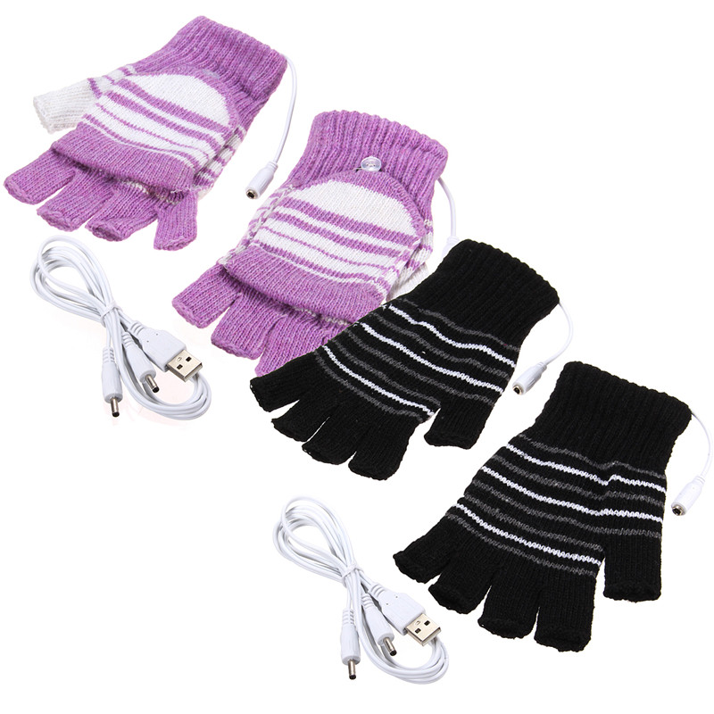 NEW  Energy Saving 5V USB Gloves Powered Heating Heated Winter Hand Warmer Labor Gloves Black Purple Washable new energy saving 5v usb gloves powered heating heated winter hand warmer labor gloves black purple washable free shipping