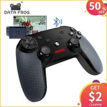 데이터 개구리 닌텐도 스위치 무선 블루투스 게임 컨트롤러 게임 패드 PC 게임 조이스틱 블루투스 컨트롤러