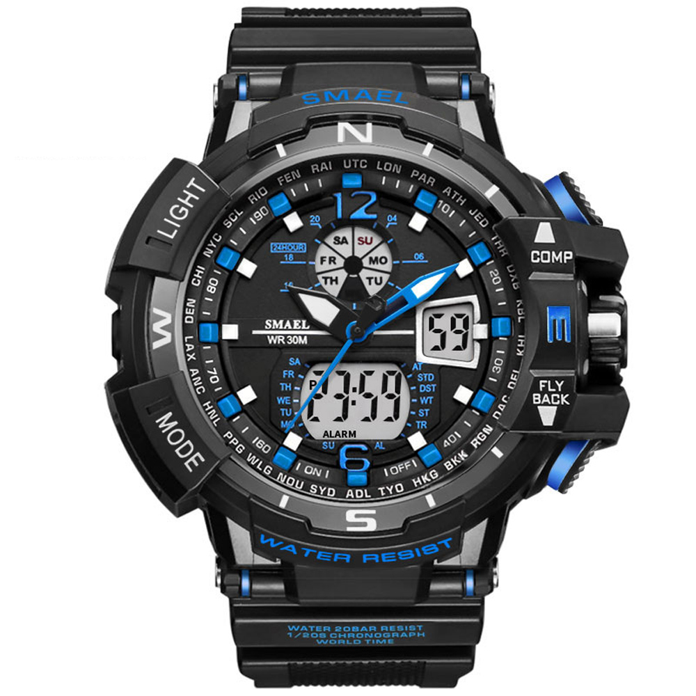 Hot Sell Digital Analog Watch Men Women LED Electronic Waterproof Dive Army G Type Military Outdoor Sport Wrist Watch Mens SM339