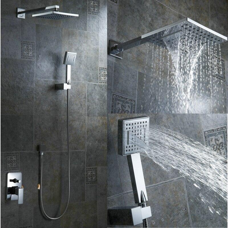 New rainfall bathroom shower kit 8 inch shower head luxury Wall ...