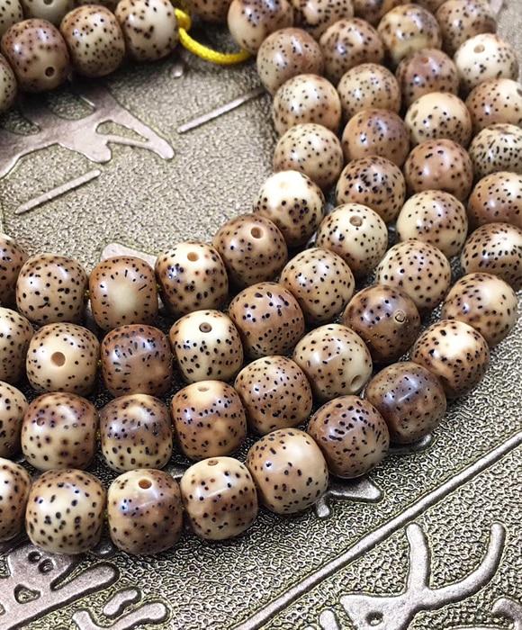 8X7mm 114 pièces naturel Hainan Grade AAA haute qualité brut Lotus Bodhi graines perles avec Barre à rayures jaunes perles en vrac