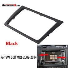 Черный интерьер автомобиля навигации Управление панели радио крышка автомобиля Накладка для VW Golf MK6 2009 2010 2011 2012 2013 2014 5K0858061E 858 061