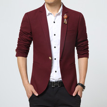 2017 new men's suits slim fashion leisure blazer