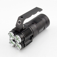 Flashlight 4000lm 4pcs T6 Focus Led 5 Modes Torch 18650 Djustable Torch Lamp Penlight Waterproof For Outdoor Glare Lamp