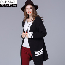 Large size cardigan women 's clothing factory wholesale 2016 new winter wool cardigans women' s sweater coat