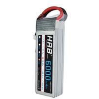 HRB 14.8V 6000mAh 50C Burst 100C 4S Lipo Li Polymer Battery Bateria AKKU for RC Car Quadcopter Helicopter Airplane
