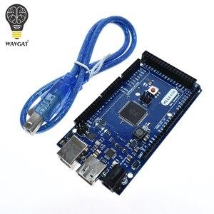 Image 1 - Wavgatメガ 2560 R3 16AUボード 2012 googleオープンadkメインボード (互換mega 2560 ATmega2560 16AU + usbケーブル