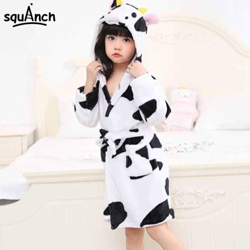 ... Animals Bath Robes Kids Cartoon Unicorn Giraffe Sleep Bathrobe Flannel  Warm Soft Funny Pajama Suit Boy ... f2fad9144