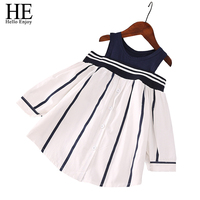Spring Autumn Girl Clothes New Brand Baby Girl Dress Fashion Children Clothing Cotton Striped Dress Kids